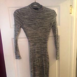 NWOT Naked Wardrobe grey midi sweater dress